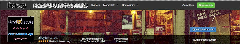popshop vinyldisc.de & recordweb.de go discogs!