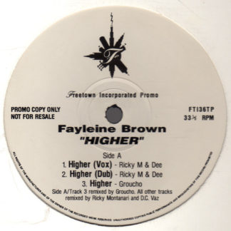 "Fayleine Brown - Higher (12"", Promo)"